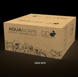 D-D Aquascape Natural Aquarium Rock 20kg large pieces box