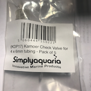 Kamoer Check Valve for 3 x 5mm tubing Pack of 5
